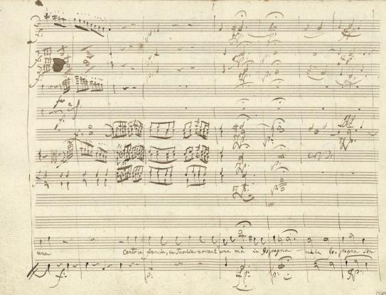 Manuscrit autographe de Don Giovanni