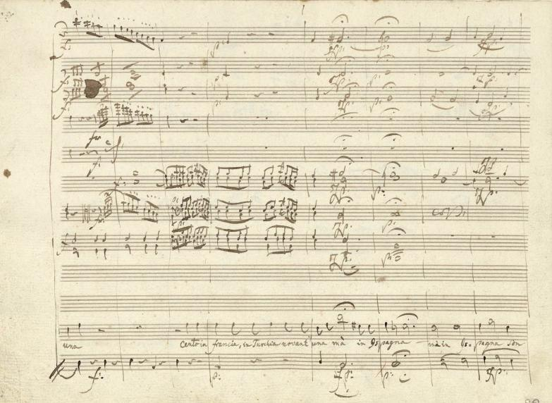 Manuscrit autographe de Don Giovanni.
