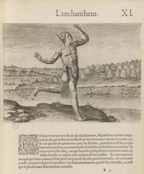 « L'Enchantheur » par Thomas Harriot (1560-1621) (version française)